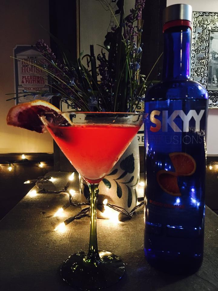 blood orange tini